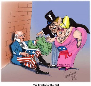The Rich and Uncle Sam exchange money