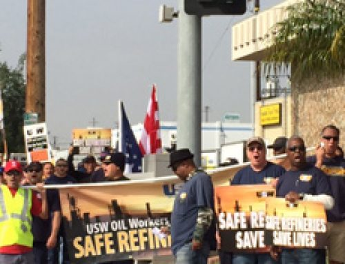1,000 refinery workers in Carson strike for safe workplace, community