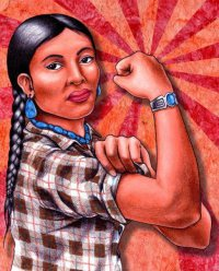 native muscle woman
