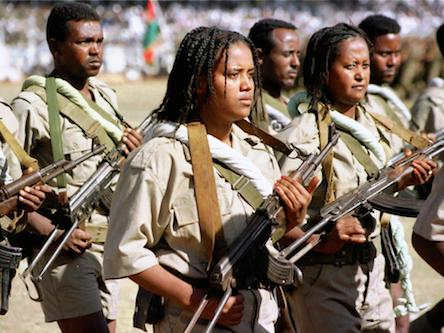 Eritrean women and men defend their sovereignty