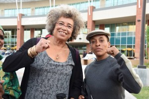 Angela Davis and Jasmine Richards Abdullah