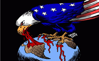 us eagle preying on latin america