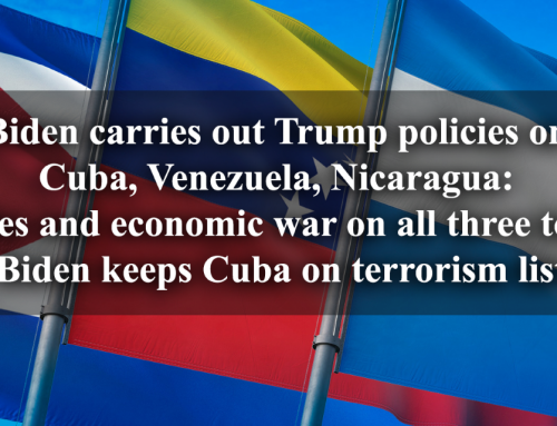 Biden Continues Trump's Sanctions on Cuba, Venezuela, Nicaragua